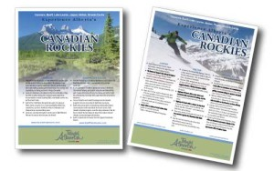flat sheet for Canadian Rockies Tourism Desination Region by GoGo Graphics