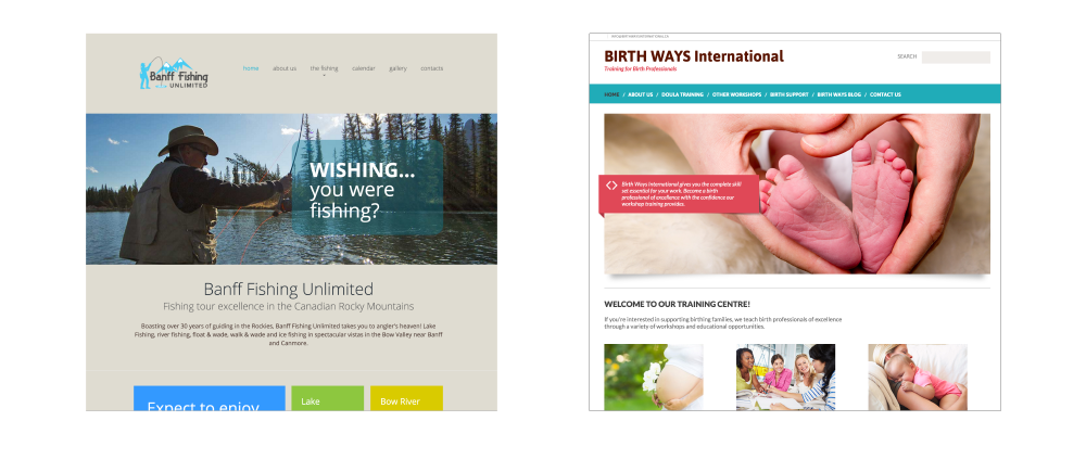 websites by GoGo Graphics, Canmore