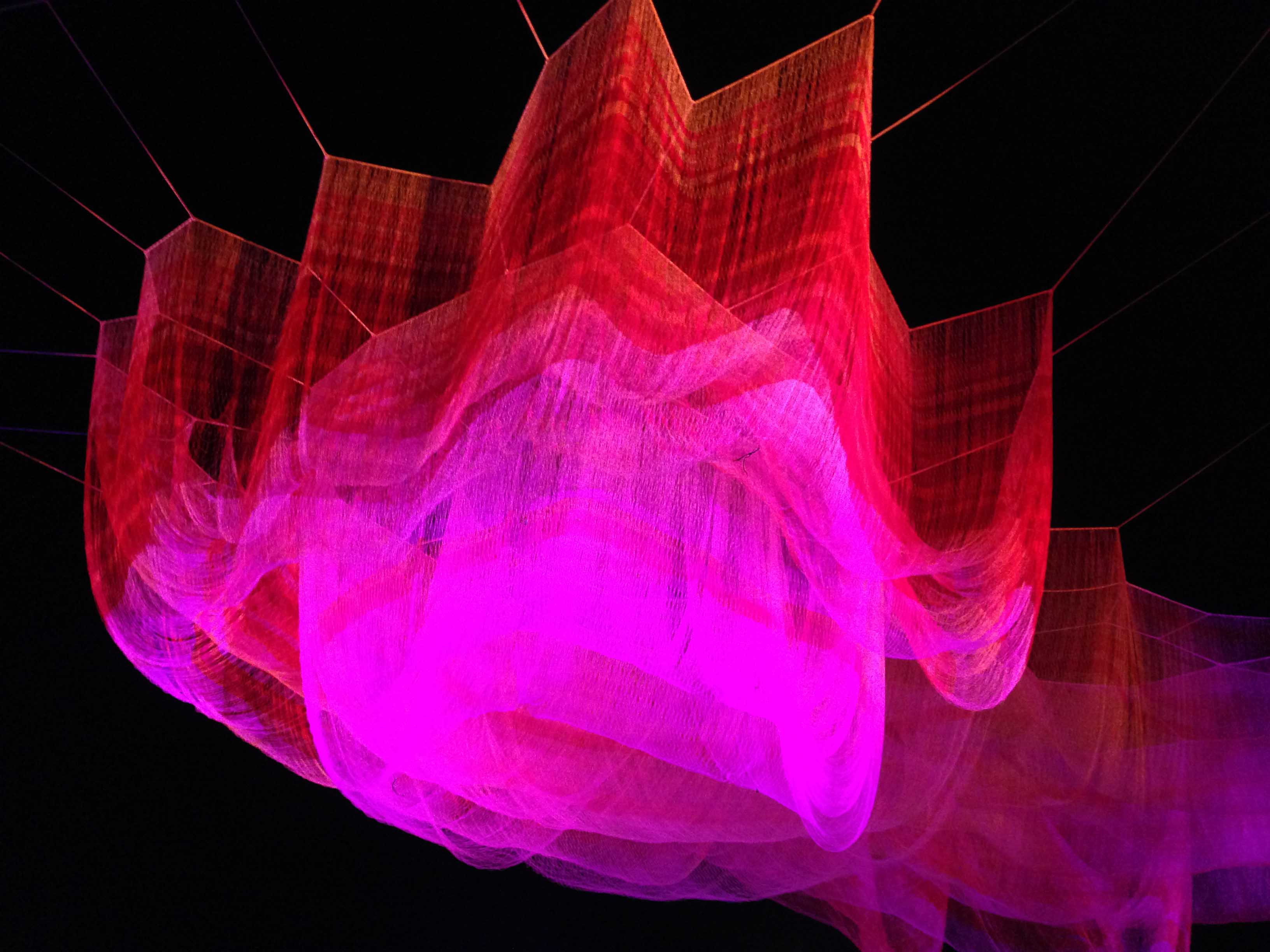 Adobe Max conference, aerial sculpture by Janet Echelman