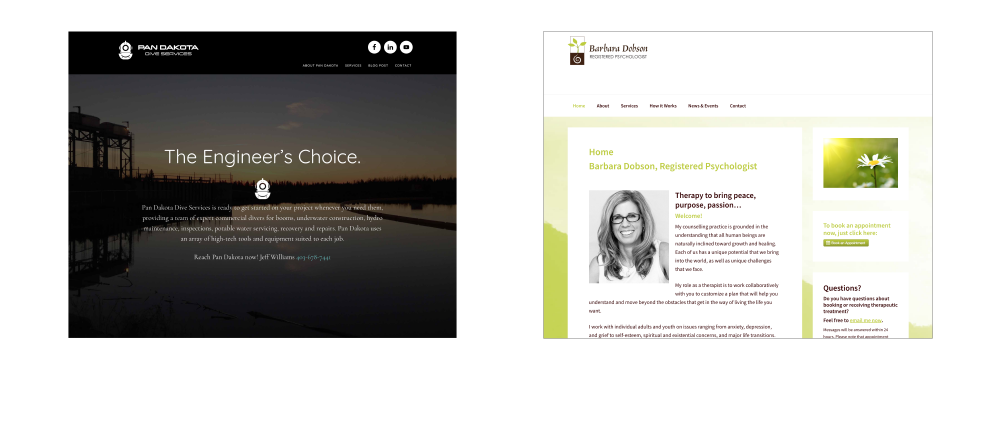 web sites by GoGo Graphics, Canmore