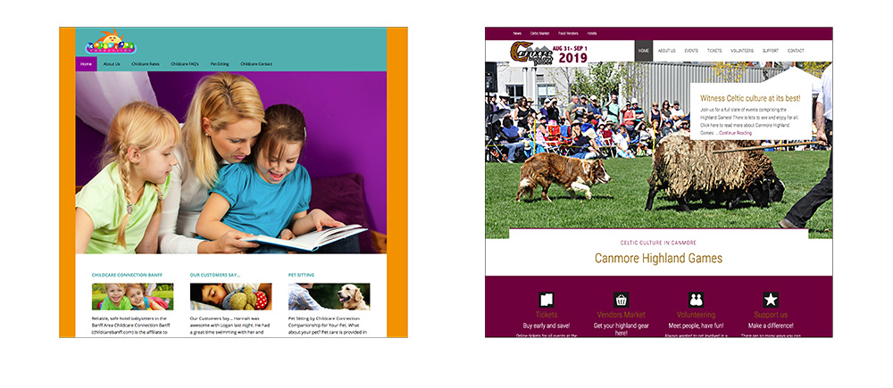 Websites by GoGo Graphics, Canmore, Alberta